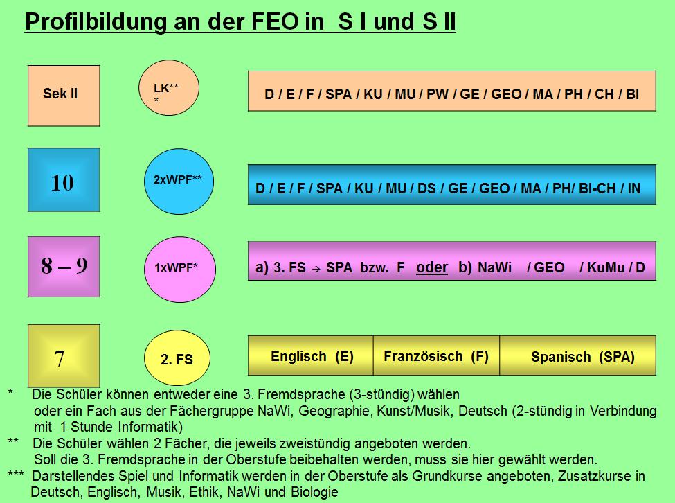 Profilbildung an der FEO